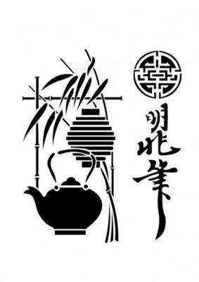 Naklejka ceremonia herbaty