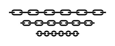 Naklejka Chain icon vector isolated. Vector connection concept. Chain solid icon. Set of chain vector signs or symbols.
