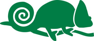 Naklejka Chameleon Icon