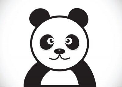 Naklejka Charakter panda kreskówki