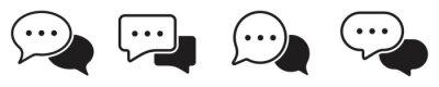 Naklejka chat message icon set, Chat speech bubble, Social media message. Vector illustration