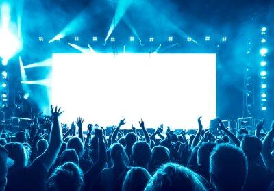 Naklejka cheering people at rock concert