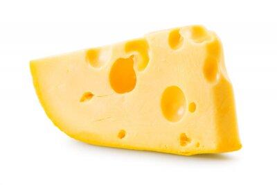 Naklejka Cheese over white background.