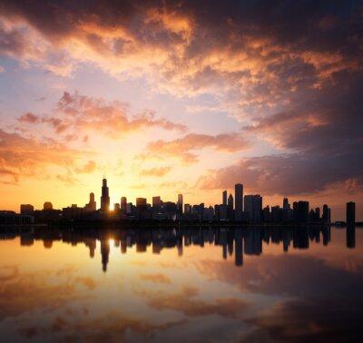 Naklejka Chicago Skyline