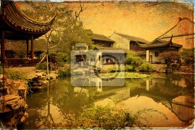Chiński tradycyjny ogród - Suzhou - Chiny