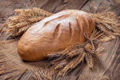 Naklejka Chleb i uszy na starej płycie