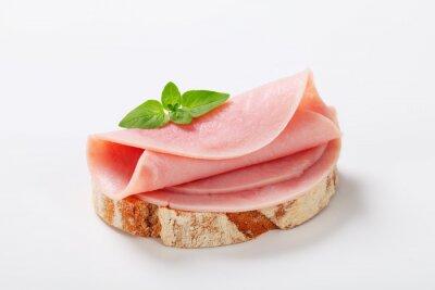 Naklejka chleb z szynką