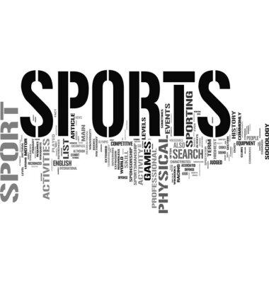 Naklejka Chmura tagów Sport