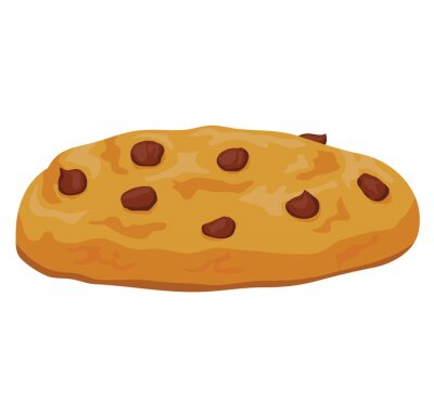 Naklejka Chocolate chip cookie