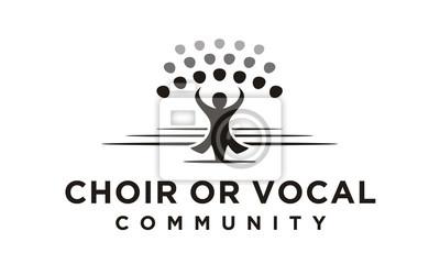 Naklejka Chór / logo grupy wokalnej inspiracja