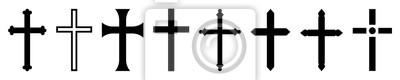 Naklejka Christian cross icon collection. Vector illustration