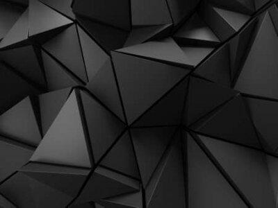 Naklejka Chrome Metallic Glossy Futuristic Background. 3d render