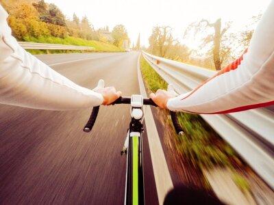 Naklejka ciclista si allena al Tramonto, widok przedni