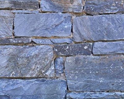 Naklejka ciemne bloki kamienne ściany zamknąć się w tle