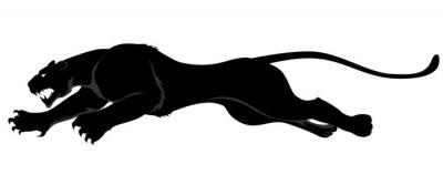 Naklejka ciemny dziki kot