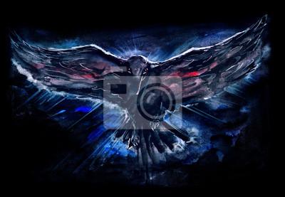 Naklejka ciemny ptak