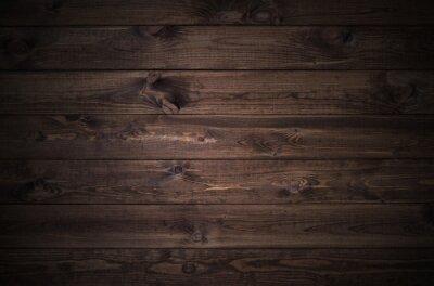 Naklejka ciemnym tle drewniane deski