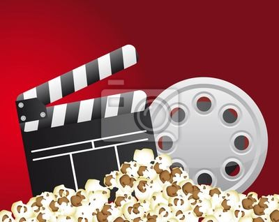 Naklejka cinema vector