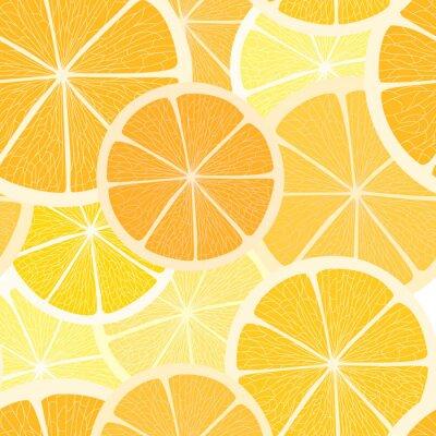 Naklejka Citrus bezszwowe tło