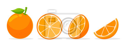 Naklejka Citrus fruits that are high in vitamin C. Sour, helping to feel fresh.
