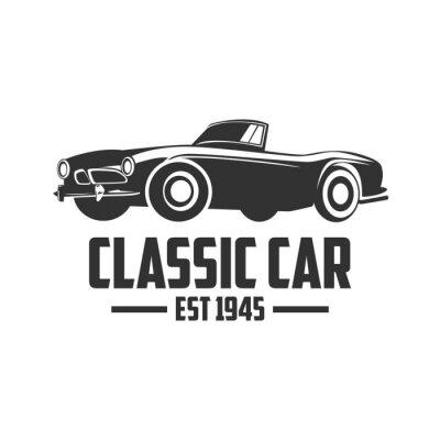 Naklejka Classic Car Wektor szablonu