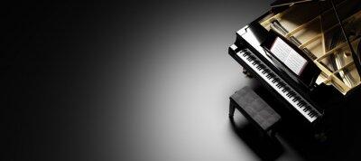 Naklejka Classic grand piano keyboard