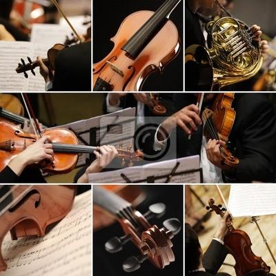 Naklejka classical music collage