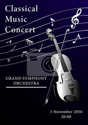 Naklejka Classical music poster