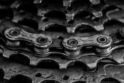 Naklejka close-up of bicycle chain