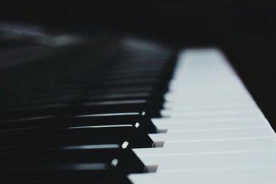 Naklejka Close-Up Of Piano Keys