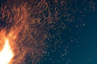 Naklejka CLOSE-UP OF sparks AT NIGHT