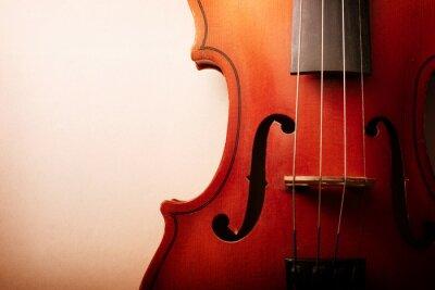 Naklejka Close Up talii Drewniane skrzypce