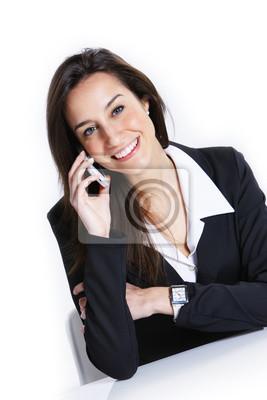 Close-up z Los rozmawia z telefonu komórkowego.