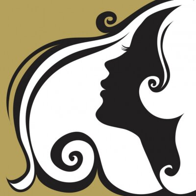 Naklejka Closeup dekoracyjne rocznika kobieta z piękne włosy