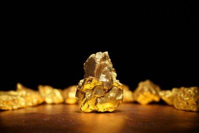 Naklejka Closeup wielkiego złota nugget