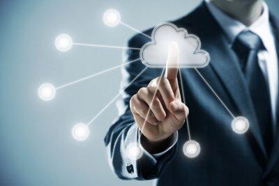 Naklejka cloud Computing
