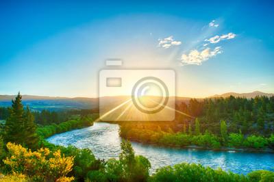 Naklejka Clutha rzeka