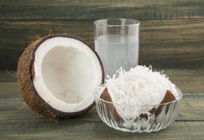 Naklejka Coco deliciosa fruta tropikalnych.
