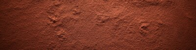 Naklejka Cocoa powder surface banner, viewed in full frame from above with darkened vignette effect