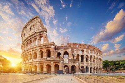 Naklejka Coliseum or Flavian Amphitheatre (Amphitheatrum Flavium or Colosseo), Rome, Italy.