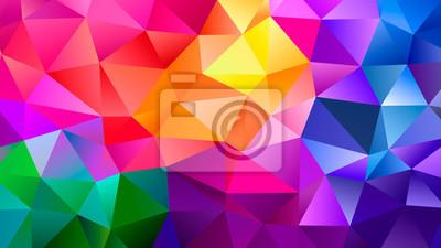 Naklejka Color Blend Rainbow Trendy Low Poly BG Design