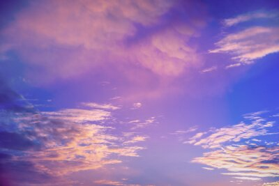 Colorful cloudy sky at sunset. Sky texture. Abstract nature background