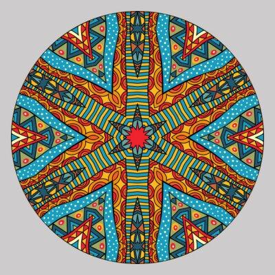 Naklejka Colorful Ethnic Round Pattern
