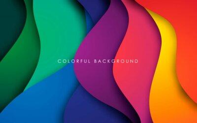 Naklejka Colorful fluid background dynamic textured geometric element. Modern gradient light vector illustration.