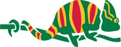 Naklejka Colorfull Chameleon