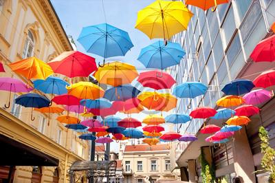Naklejka Colorfull parasole