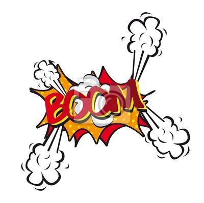 Naklejka comic eksplozji