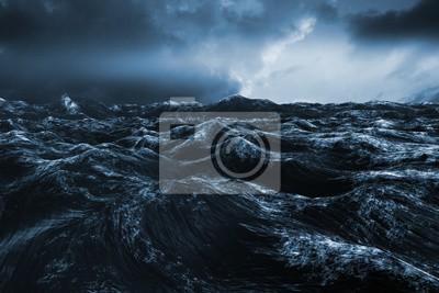 Naklejka Composite obraz szorstkiej błękitnego oceanu