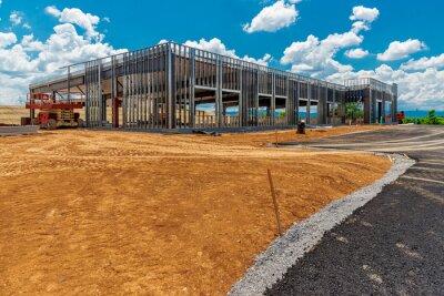 Naklejka Construction Site of New Commercial Development