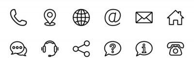 Naklejka Contact us icon set. Web icon set. Website set icon vector